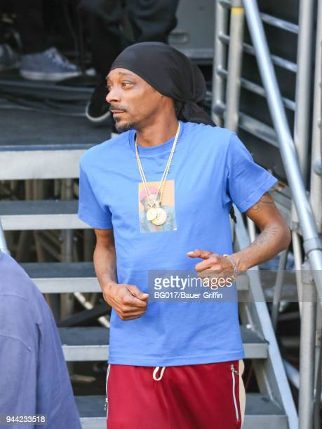 Snoop Dogg is seen at 'Jimmy Kimmel Live' on April 09 2018 in Los Angeles California