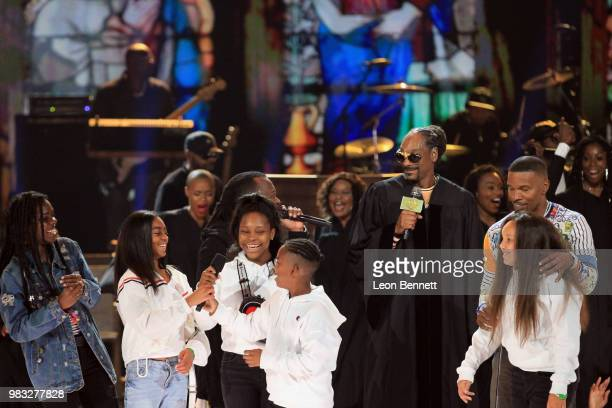 Snoop Dogg Jamie Foxx and special guests onstage at the 2018 BET Awards at Microsoft Theater on June 24 2018 in Los Angeles California