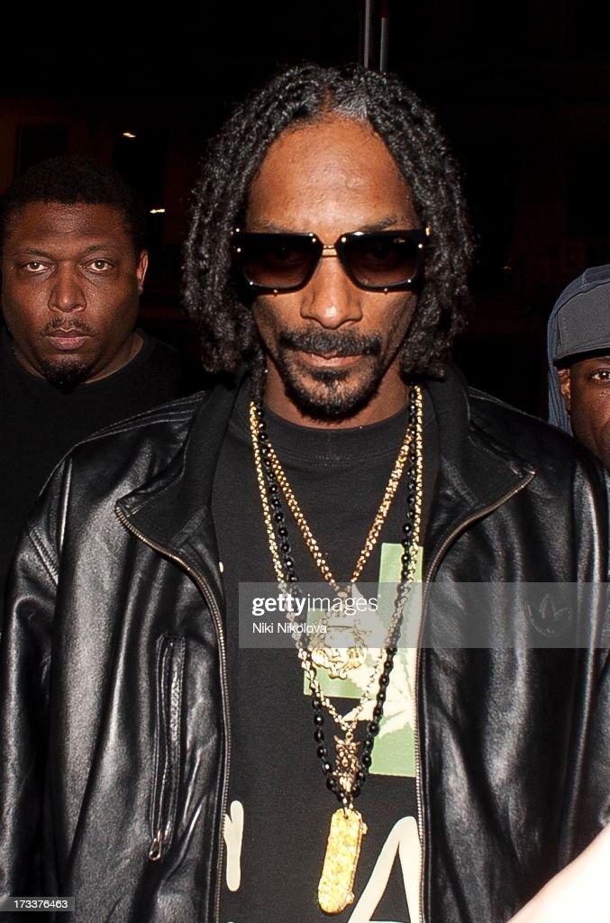 Snoop Dogg leaving boujis Club, South kensington on July 12, 2013 in London, England.