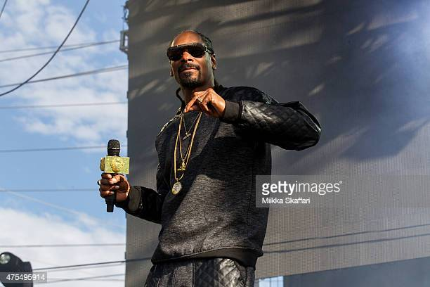 Snoop Dogg performs at Bottle Rock festival at Napa Valley Expo on May 31 2015 in Napa California