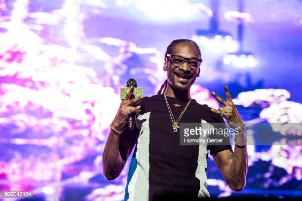 Snoop Dogg performs at the 2017 BET Experience on June 24 2017 in Los Angeles California