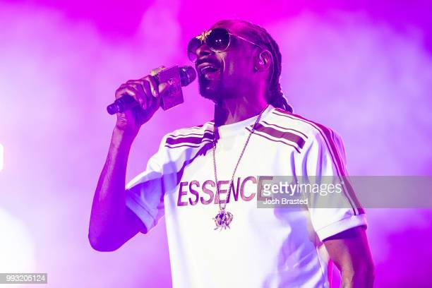 Snoop Dogg performs at the 2018 Essence Music Festival at the MercedesBenz Superdome on July 6 2018 in New Orleans Louisiana