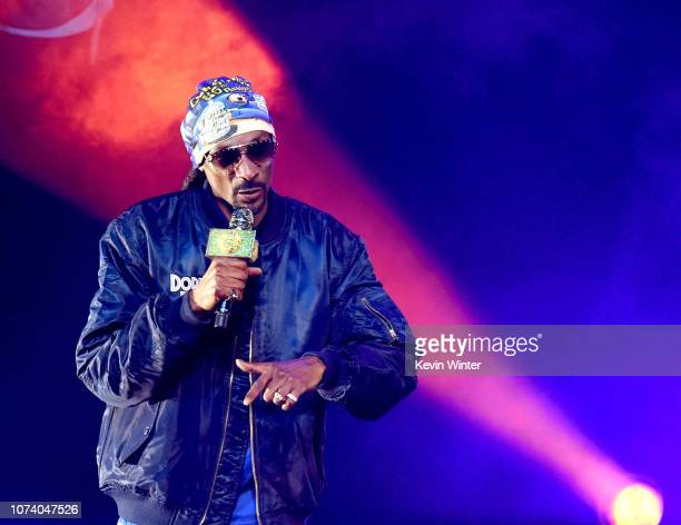 Snoop Dogg performs at the Puff Puff Pass Tour 3 at the Microsoft Theatre on December 15 2018 in Los Angeles California