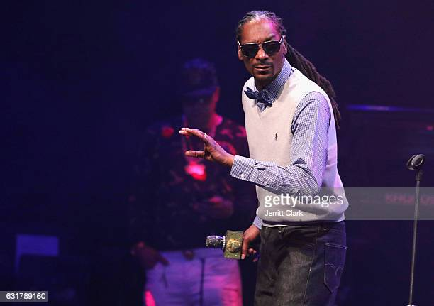 Snoop Dogg performs at the TBoz Unplugged A Benefit Concert Sickle Cell Disease at Avalon on January 15 2017 in Hollywood California