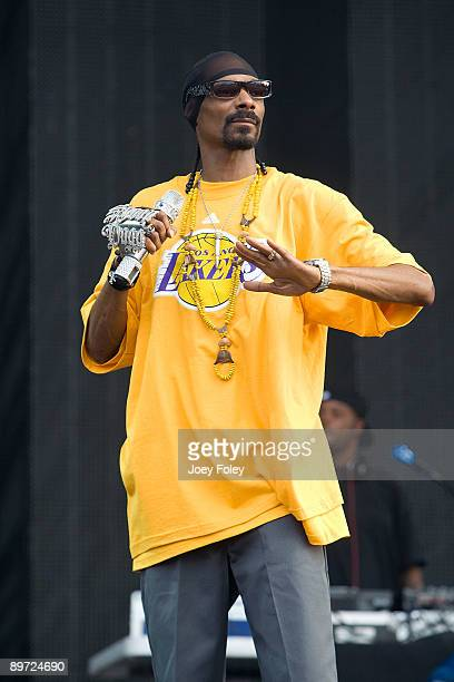 Snoop Dogg performs during the 2009 Lollapalooza music festival at Grant Park on August 9 2009 in Chicago Illinois