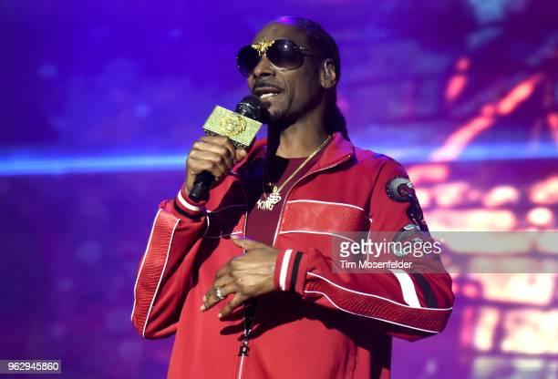 Snoop Dogg performs during the 2018 BottleRock Napa Valley at Napa Valley Expo on May 26 2018 in Napa California