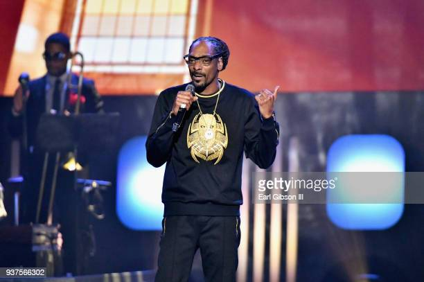 Snoop Dogg performs during the 33rd annual Stellar Gospel Music Awards at the Orleans Arena on March 24 2018 in Las Vegas Nevada