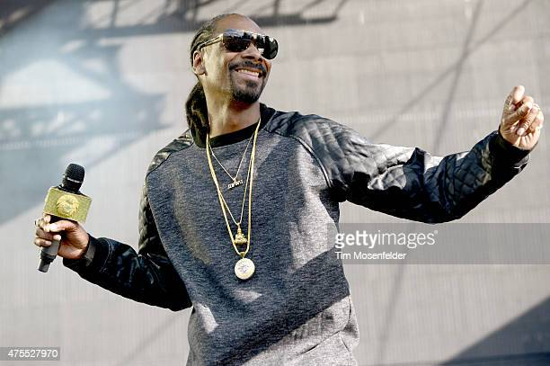 Snoop Dogg performs during the Bottle Rock Napa Valley Music Festival at Napa Valley Expo on May 31 2015 in Napa California
