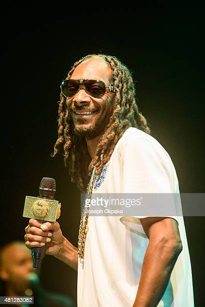 Snoop Dogg performs on Day 2 of Lovebox festival taking place at Victoria park on July 18 2015 in London United Kingdom