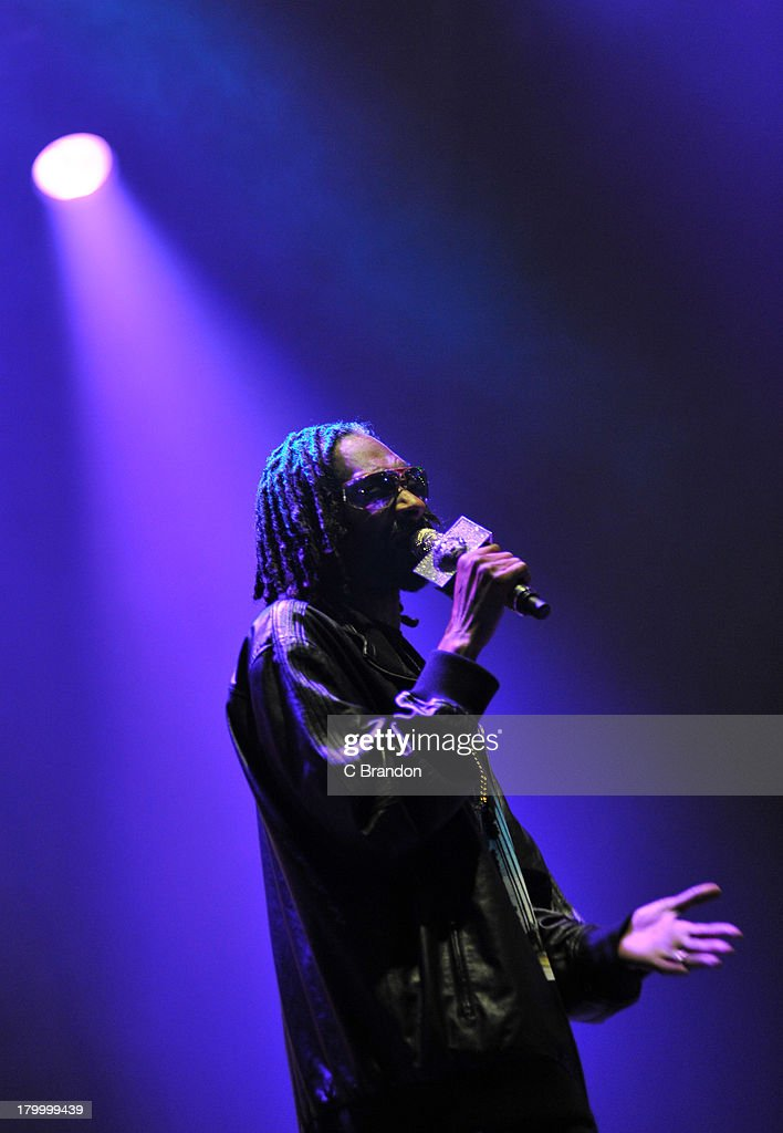 Snoop Dogg performs on stage during Day 3 of Bestival 2013 at Robin Hill Country Park on September 7, 2013 in Newport, Isle of Wight.