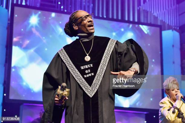 Snoop Dogg performs onstage during BET Presents 19th Annual Super Bowl Gospel Celebration at Bethel University on February 1 2018 in St Paul Minnesota