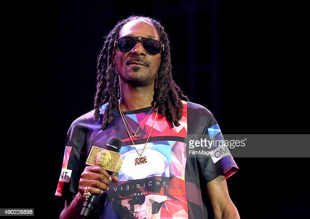 Snoop Dogg performs onstage during day 2 of the 2015 Life is Beautiful festival on September 26 2015 in Las Vegas Nevada