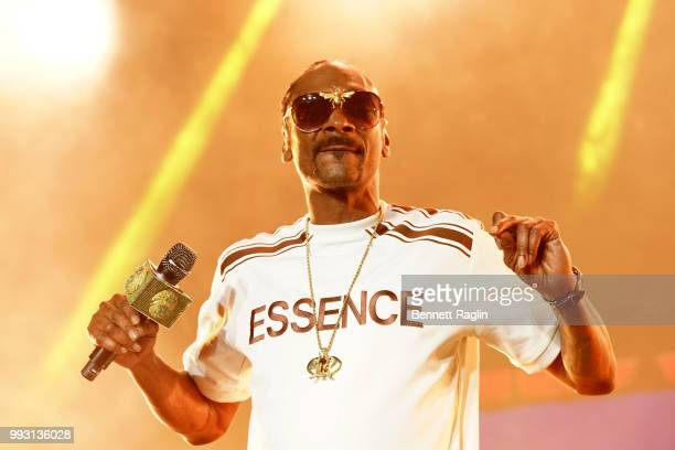 Snoop Dogg performs onstage during the 2018 Essence Festival presented By CocaCola Day 1 at Louisiana Superdome on July 6 2018 in New Orleans...