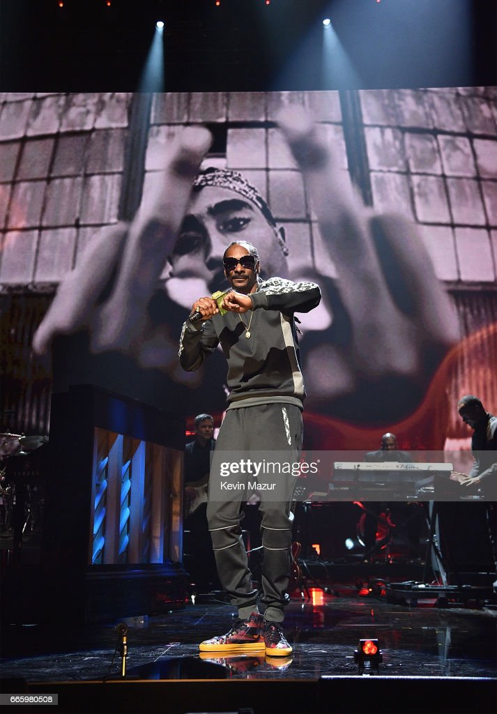 Snoop Dogg performs onstage during the 32nd Annual Rock & Roll Hall Of Fame Induction Ceremony at Barclays Center on April 7, 2017 in New York City. The broadcast will air on Saturday, April 29, 2017 at 8:00 PM ET/PT on HBO.