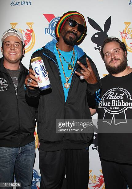 Snoop Dogg Presents Colt 45 Works Every Time mansion party with Evan and Daren Metropoulos at The Playboy Mansion on October 19 2012 in Beverly Hills...