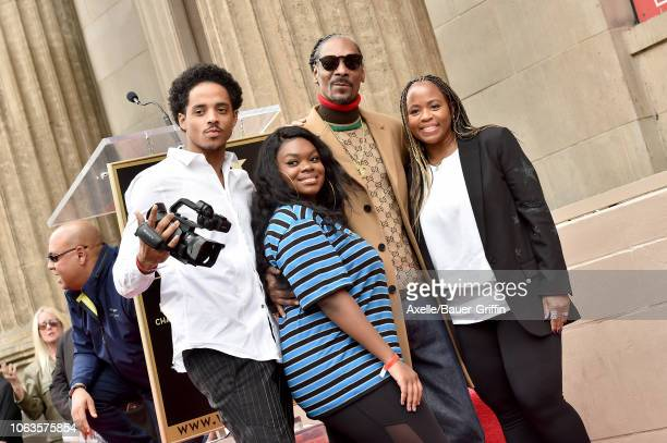 Snoop Dogg Shante Broadus Cori Broadus and Cordell Broadus attend the ceremony honoring Snoop Dogg with star on the Hollywood Walk of Fame on...