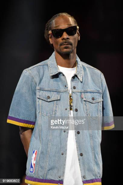 Snoop Dogg speaks onstage during the 2018 State Farm AllStar Saturday Night at Staples Center on February 17 2018 in Los Angeles California