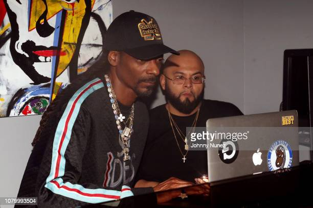 Snoop Dogg spins at the Barry Mullineaux Birthday Celebration at Pomona on January 9, 2019 in New York City.