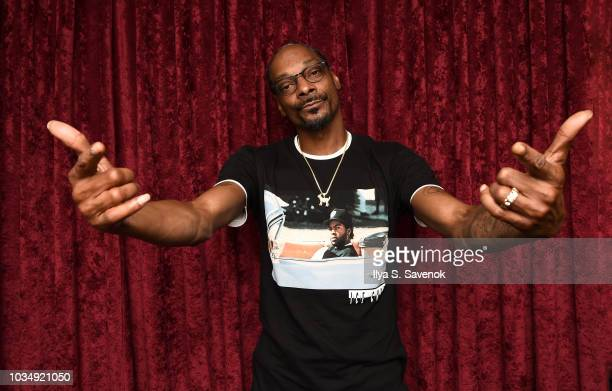 Snoop Dogg visits the SiriusXM Studios on September 17 2018 in New York City