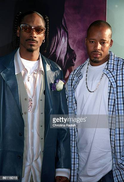 Snoop Dogg Warren G at the premiere of 'Catwoman' held at the Cinerama Dome in Hollywood Calif on July 19 2004