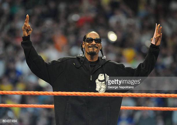 Snoop Dogg was among the many celebrities who took part in Wrestlemania XXIV at the Citrus Bowl on March 29, 2008 in Orlando, Florida.