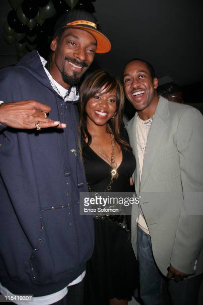 Snoop Dogg with his wife Shante and Jaleel White during Snoop Dogg's Birthday Bash and Hood of Horror After Party Sponsored By Captain Morgan...
