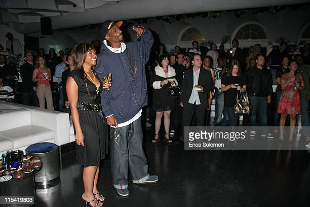 Snoop Dogg with his wife Shante Broadus during Snoop Dogg's Birthday Bash and Hood of Horror After Party Sponsored By Captain Morgan Heineken Monster...