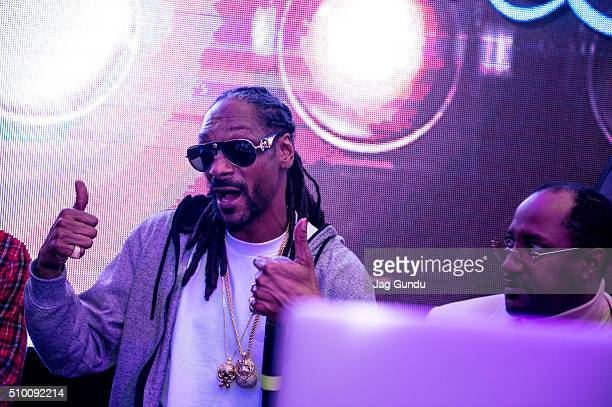 Snoopadelic AKA Snoop Dogg attends Bounce Sporting Club Presents The VIP Lounge At MAXIM's All Star Party on February 12 2016 in Toronto Canada