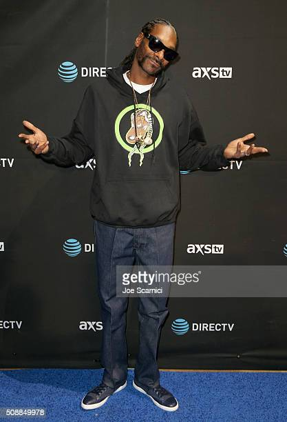 Snoopadelic AKA Snoop Dogg attends DirecTV Super Saturday Night Cohosted by Mark Cuban's AXS TV at Pier 70 on February 6 2016 in San Francisco...