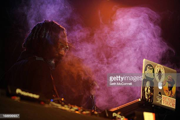 Snoopalicious aka Snoop Lion performs a DJ set during the first ever Green Carpet event as a part of the High Times US Cannabis Cup at the Fillmore...
