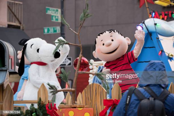 Snoopy and Linus van Pelt attend the 2018 Macy's Thanksgiving Day Parade on November 22, 2018 in New York City.