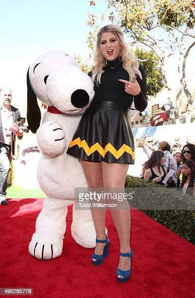 "Snoopy and Meghan Trainor attend the premiere of 20th Century Fox's ""The Peanuts Movie"" at Regency Village Theatre on November 1, 2015 in Westwood,..."