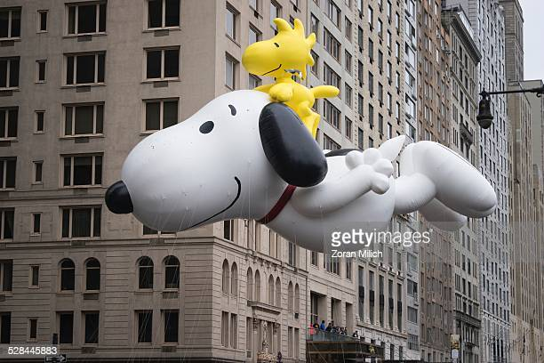 Snoopy balloon at the Macy's 2014 88th Thanksgiving Day Parade. The Manhattan Borough of New York, New York, USA.