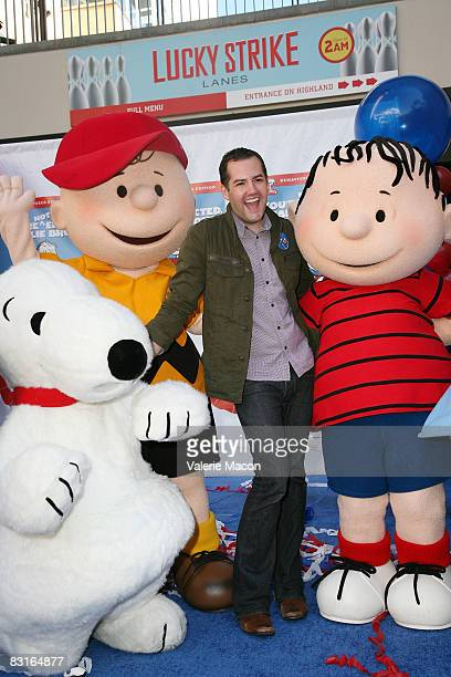 Snoopy Charlie Brown TV Personality Ross Mathews and Linus attend Warner Home Video's DVD Release of 'You're Not Elected Charlie Brown' October 7...