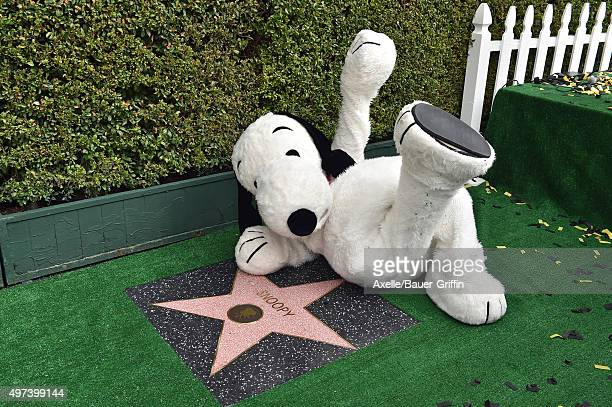 Snoopy is honored with a Star on the Hollywood Walk of Fame on November 2 2015 in Hollywood California