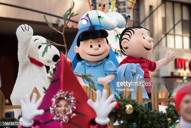 Snoopy Lucy van Pelt and Linus van Pelt attend the 2018 Macy's Thanksgiving Day Parade on November 22 2018 in New York City