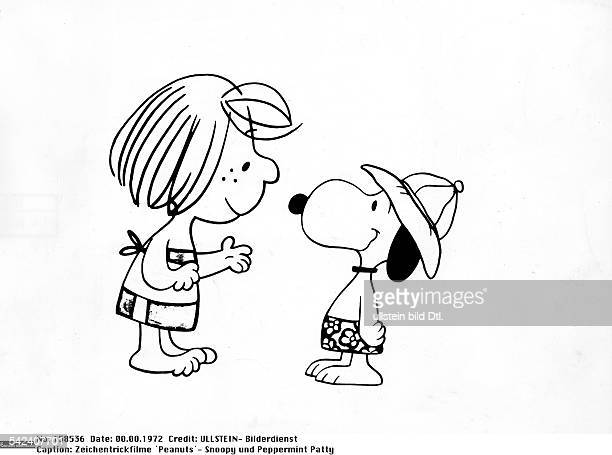 Snoopy und Peppermint Pattyaus dem Zeichentrickfilm 'Snoopy`1972