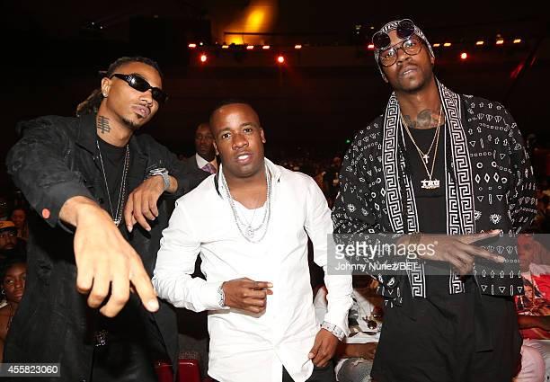 Snootie Wild, Yo Gotti, and 2 Chainz attend the BET Hip Hop Awards 2014 at Boisfeuillet Jones Atlanta Civic Center on September 20, 2014 in Atlanta,...