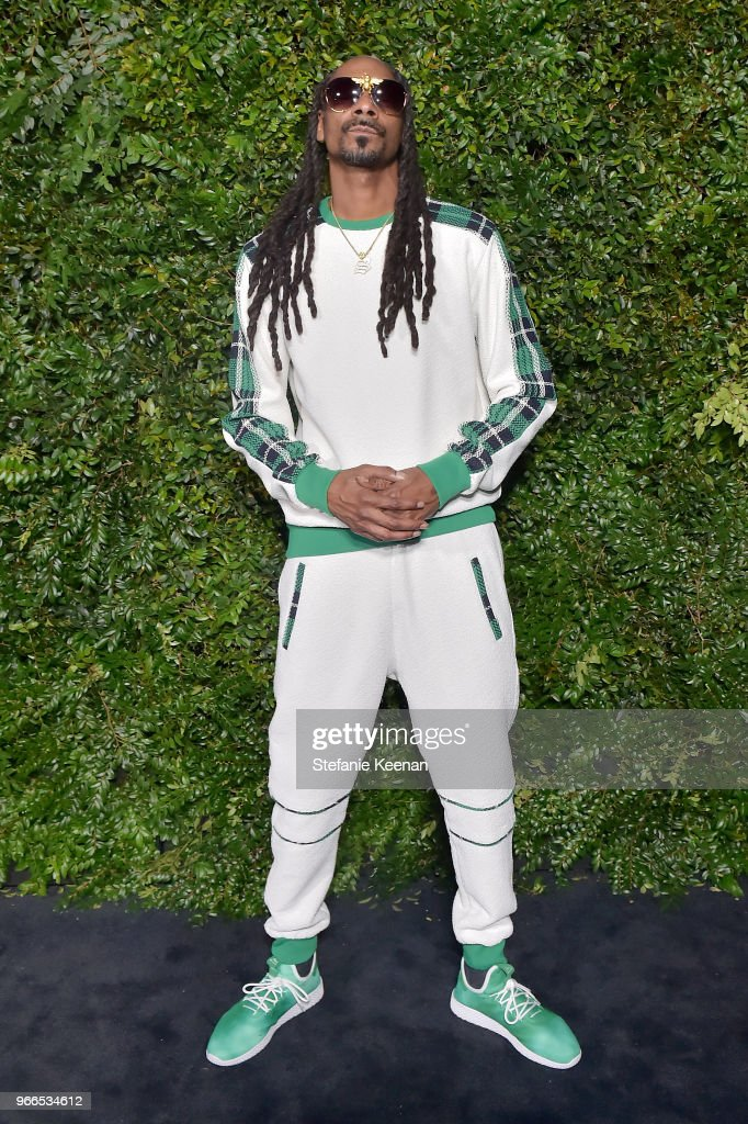 Snopp Dogg, wearing Chanel, attends Chanel Dinner Celebrating our Majestic Oceans, A Benefit for NRDC at Private Residence on June 2, 2018 in Malibu, California.