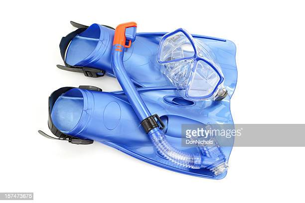 snorkel set isolated - scuba mask stock pictures, royalty-free photos & images