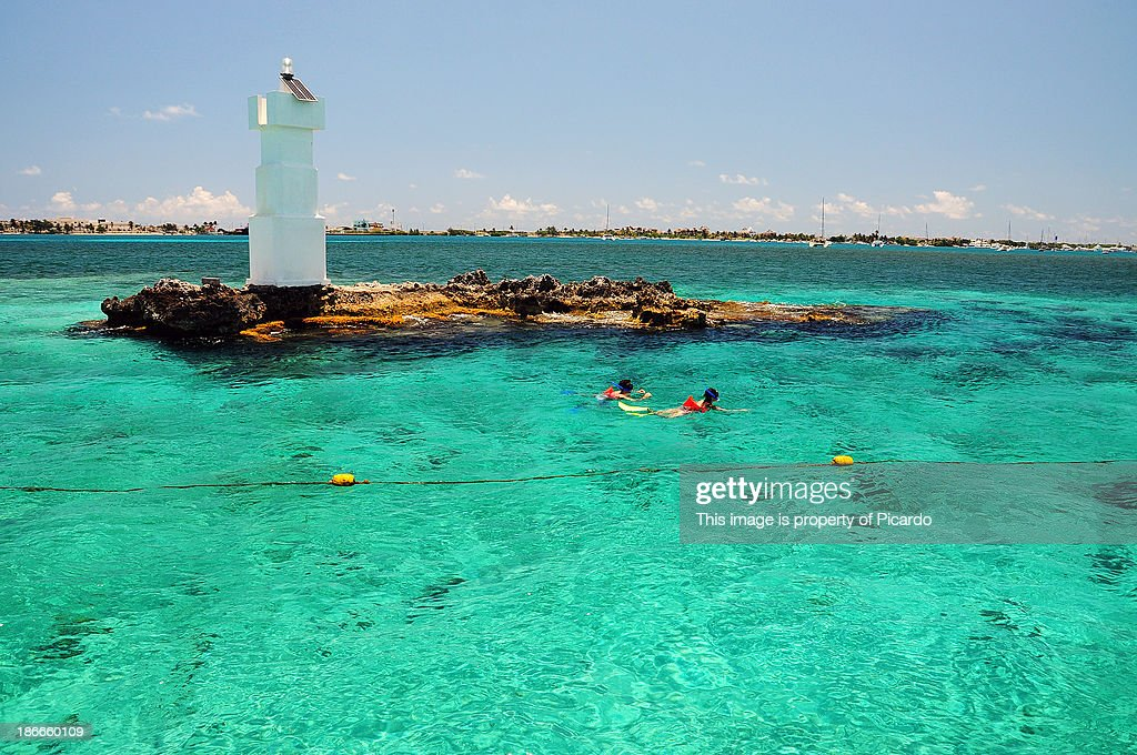 Snorkeling at Isla Mujeres : Stock Photo