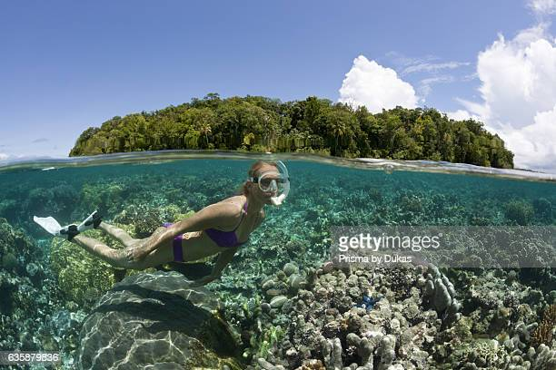 Snorkeling at Solomon Islands Marovo Lagoon Solomon Islands