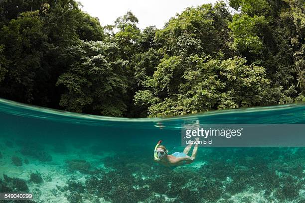Snorkeling in Rock Islands Risong Bay Micronesia Palau
