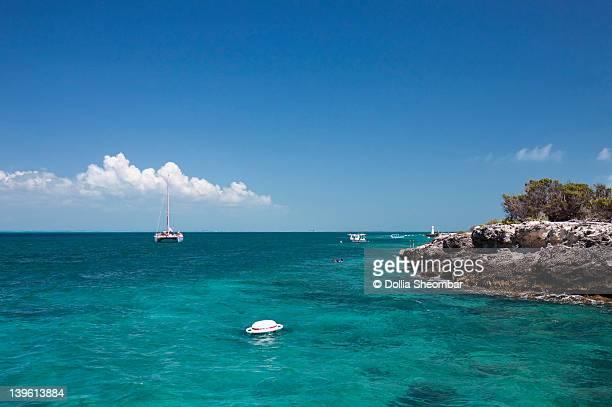 snorkeling @ isla mujeres - mujeres fotos stockfoto's en -beelden