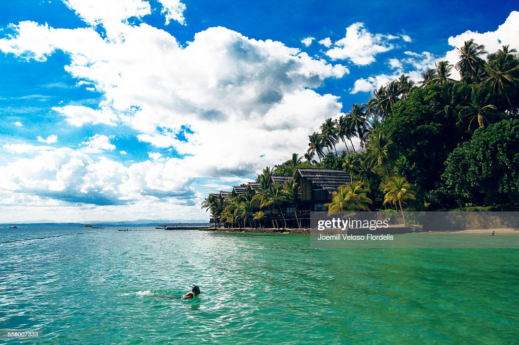 Snorkeling: Pearl Farm Beach Resort, Philippines : Stock Photo