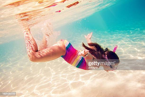 snorkeling underwater - cancun stock pictures, royalty-free photos & images