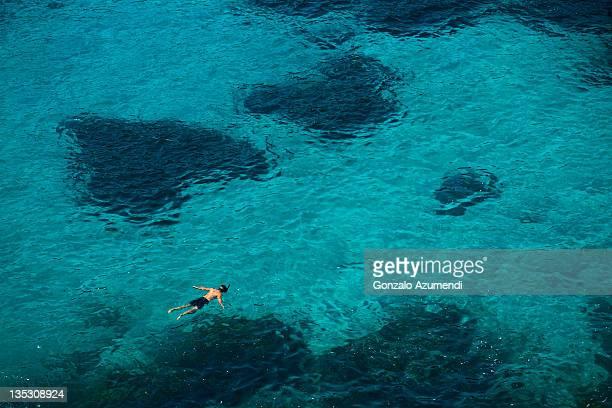 snorkelling in menorca - カラマカレラ ストックフォトと画像
