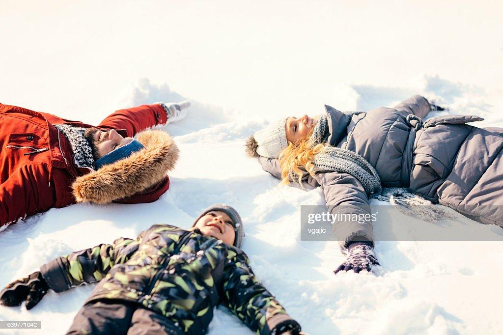 Snow Angels : Stock Photo