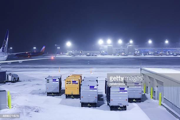 Snow at Denver International Airport