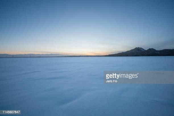 snow at dusk - snowfield stock pictures, royalty-free photos & images